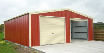 double steel car garage
